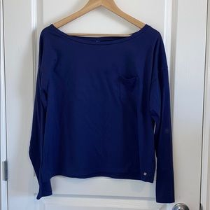 Fabletics Navy Blue Long Sleeved T-Shirt